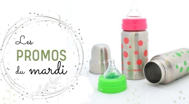 Promotions sur les biberons inox kit évolutifs Organic Kidz