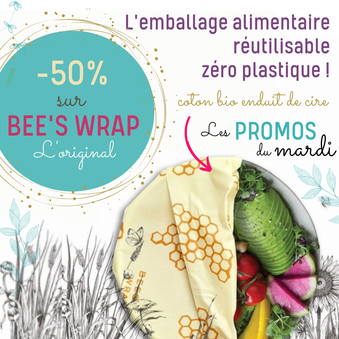 Promotion bees wrap emballage alimentaire zéro plastique sur sans-bpa.com