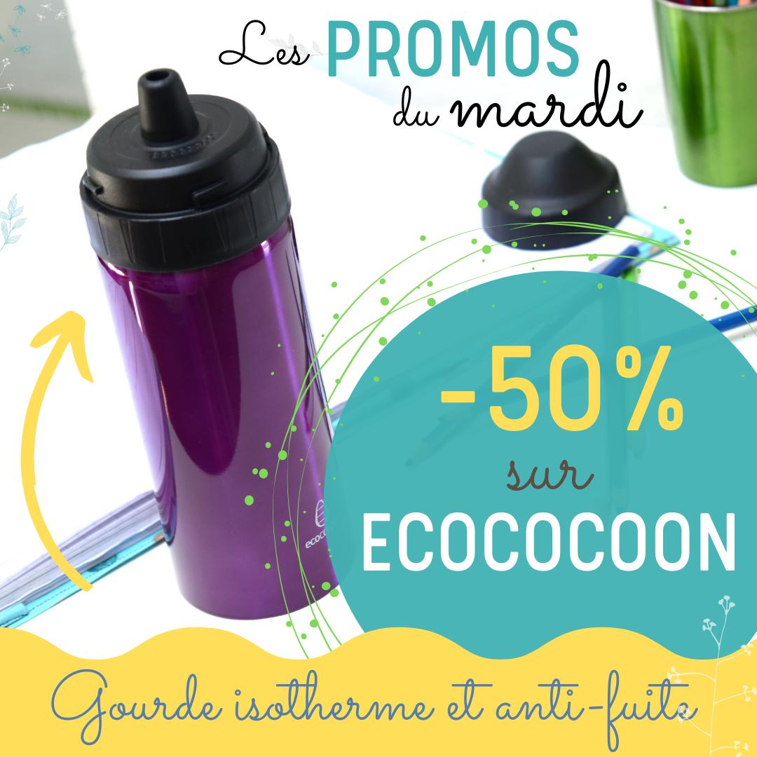 gourdes isothermes Ecococoon en promotion sur sans-bpa.com !