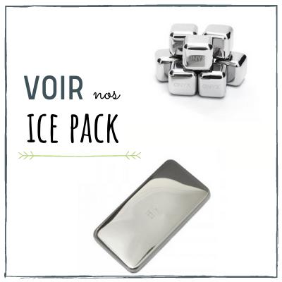 ice pack, pack réfrigérant, glaçons inox